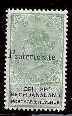 Bechuanaland protectorate Stamps 1888 QV 1s green & black (SG 46) MLH £130/ $190 - http://stamps.goshoppins.com/commonwealth-british-colonial-stamps/bechuanaland-protectorate-stamps-1888-qv-1s-green-black-sg-46-mlh-130-190/