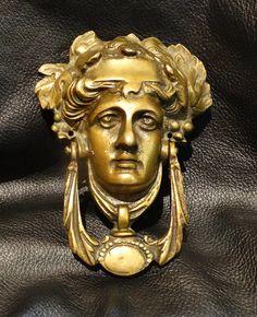 Antique Door Knocker Neoclassic Brass Circa 1900 by ElegantArtifacts on Etsy