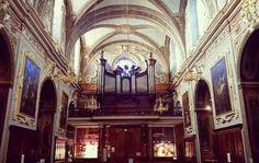 #Nef #église #SaintExupère #Toulouse & #orgue Maison Théodore Puget (1885). #Baroque XVIIe s.  #ByToulouse #VisitezToulouse #We_Toulouse #igerstoulouse #tourismemidipy #Patrimoine #architecture #instarchitecture #architectureporn #architecturelovers #trésorspatrimoine #church