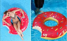 #Doughnut Pool Float (http://blog.hgtv.com/design/2013/06/07/daily-delight-donut-pool-float/?soc=pinterest)
