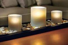 decoracion con velas y piedras - Buscar con Google