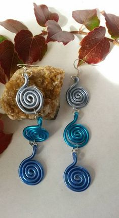 la spirale des bleus Small Rings, Personalized Jewelry, Belly Button Rings, Bubbles, Drop Earrings, Boutique, Handmade, Etsy, Blue