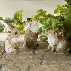 Found it at Wayfair - Garden Rabbit 3 Piece Statue Set