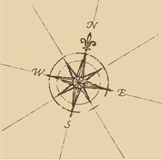 windroses (or those ever so popular nautical stars) were often tattooed on sailors so that they could find their way home (sailors are a superstitious bunch)