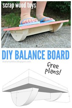 Ted's Woodworking Plans - Thats My Letter: Balance Board with free plans Get A Lifetime Of Project Ideas & Inspiration! Step By Step Woodworking Plans Kids Woodworking Projects, Wood Projects For Kids, Woodworking Tips, Diy Projects, Project Ideas, Woodworking Furniture, Popular Woodworking, Woodworking Equipment, Woodworking Magazine