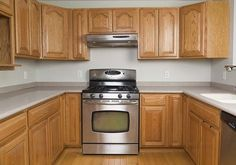 A kitchen before application of Cabinet Transformations