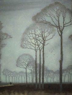 ☼ Painterly Landscape Escape ☼ landscape painting by Jan Mankes - Row of Trees, 1915 Landscape Art, Landscape Paintings, Tree Paintings, Tree Artwork, Dutch Painters, Inspiration Art, Fine Art, Art Design, Painting & Drawing
