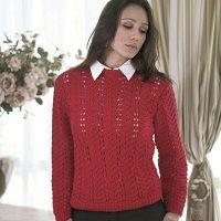 Blusa Vermelha em Ponto Ajurado - Fio Alfazema
