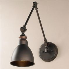 Adjustable Arm 1 Light Wall Sconce