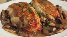 Chicken & Mushrooms Recipe - Almost Naked Breasts!