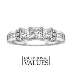 Cool Fred Meyer Jewelers ct tw Diamond Three Stone Ring