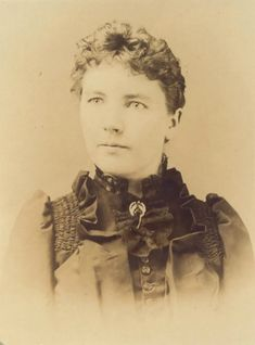 Laura Ingalls Wilder in 1891 while working in De Smet.  She had given birth to a daughter, Rose, five years earlier in 1886.