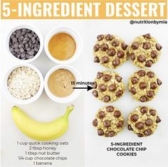 dessert fix? 🍪 cookies made with good-for-you ingredients & ready in 15 min… hello sweet treat… Healthy Desayunos, Healthy Meal Prep, Healthy Sweets, Healthy Baking, Smoothie Recipes, Snack Recipes, Cooking Recipes, Dinner Recipes, Healthy Desserts