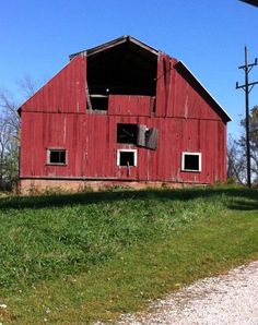 An old barn along the countryside! Parke Co. In