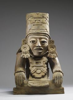 """Figural Urn"" (ca. 450-650 CE). Oaxaca, Mexico, Zapotec. Posted on art.thewalters.org."