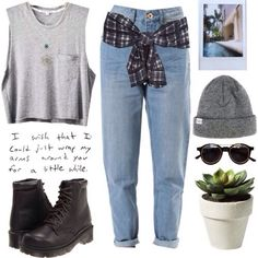 i like the outfit but I don't understand the plant in the pic