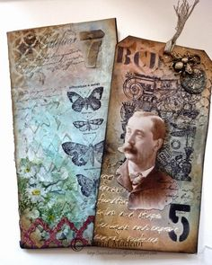 This is the coolest tutorial for making a tag pocket book from plain old envelopes. Awesome!!!