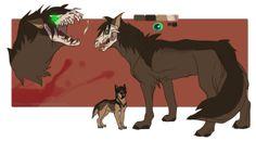 Eren in Wolf form.