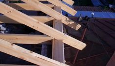 Roof framing, bird mouth cuts