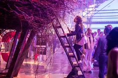<p> C:Lab, the creative laboratory of Cirque du Soleil, used real tree branches to create the Nest, a hollow structure...