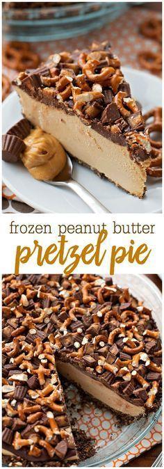 Frozen Peanut Butter Pretzel Pie recipe