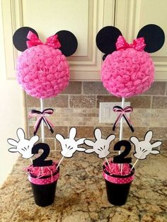 Minnie Mouse Birthday Party Table Centerpieces ,Minnie Mouse Birthday Party Ideas by Kandyce Adams Reynolds