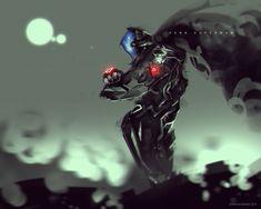 Dark Cyber Superman, Benedick Bana on ArtStation at https://www.artstation.com/artwork/dark-cyber-superman