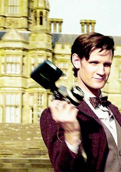 (Gif) Doctor Who - Matt Smith. This makes me smile. He never gets tired of impressing Clara. Ugh this man is perfect.