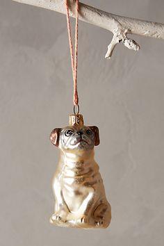 Adorable Glass Pug Ornament #anthropologie   #pug