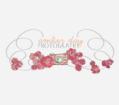 Premade Photography Logo Camera & Flowers  by HappilyEverAfter7, $35.00