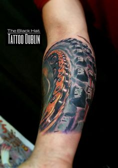 96c2426a339aa A biker Tattoo and another crazy good art piece from our local star Sergy.  The Black Hat Tattoo Dublin