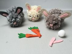 Pom Pom Bunnies DIY