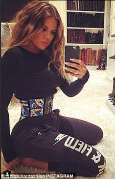 d6021732325ac Khloe Kardashian goes a shade lighter as she sports blonder locks. Kim  Kardashian · Kardashian Waist Trainer ...