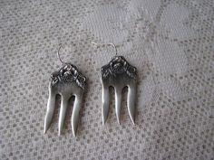 Fork earrings - Spoon Earrings - Silver Earrings, Spoon Jewelry - Fork Jewelry…