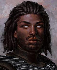 Fantasy Male, High Fantasy, Fantasy Rpg, Medieval Fantasy, Fantasy Portraits, Character Portraits, Fantasy Artwork, Black Characters, Dnd Characters