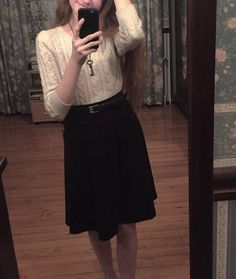 skirt // outfit // key necklace