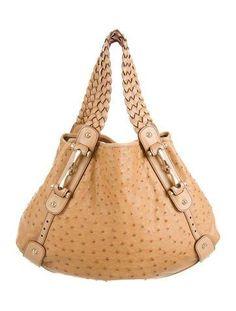 #The RealReal - #Gucci Gucci Ostrich Pelham Bag - AdoreWe.com