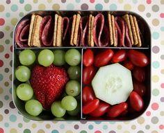 Red and Green Preschool Bento #456 by Wendy Copley, via Flickr