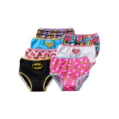 Toddler Girl DC Comics 7-pk. Bat Girl, Wonder Woman & Superwoman Briefs, Size: 2T-3T, Multicolor