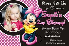 Minnie mouse Birthday Invitation disney by SuperBirthdayParty