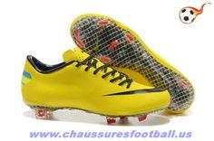 online store 9c2d6 624eb Nike Mercurial Vapor VIII FG Jaune FT9678 Tacos De Fútbol, Botas Nike,  Zapatos De