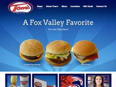 B2 Web Studios' Joomla website design for Tom's Drive In in Appleton, Wisconsin - http://tomsdriveins.com