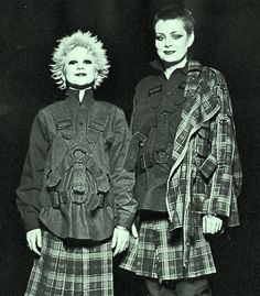 DEBBIE JUVENILE & TRACIE O'KEEFE - SEDITIONARIES shop assistants - wearing clothing designed by Vivienne Westwood & Malcolm McLaren