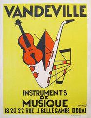 Vandeville Music Store, Original 1950s Poster