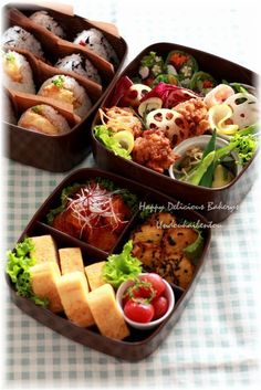 I want someone to make me such cute Bento And Co, Bento Box Lunch, Japanese Lunch Box, Japanese Food, Food N, Food And Drink, Boite A Lunch, Cute Bento, Little Lunch