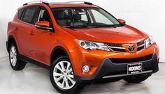 """Hot Lava"" orange Toyota RAV4 ALL NEW 2015- Yes, I am buying this SUV this year."