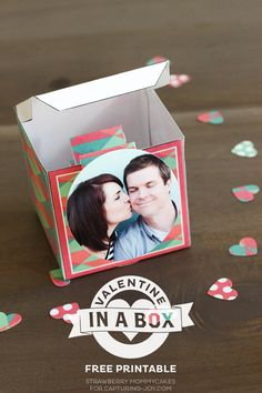 Valentine in a Box Printables. Great for Valentine's Day gifts or treats.