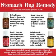 Stomach bug get to you or your family? Treat it naturally with Young Living essential oils! You'll feel better, faster! Safe for babies, children, & pregnant women. by jayne