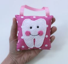 Handmade TOOTH FAIRY PILLOW in pink or blue by IfeltLOVEbyKATIE