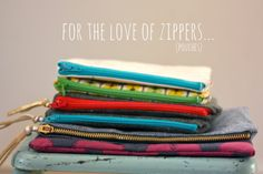 Zippered pouches, perfect gifts!